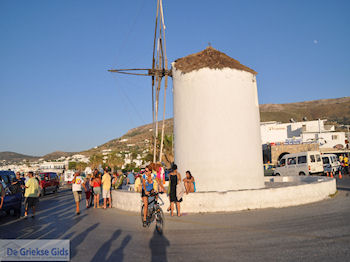 Aankomst in Parikia op paros